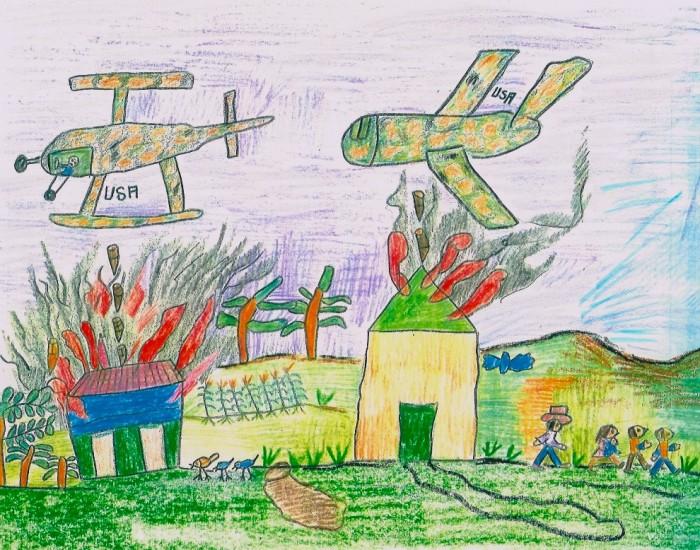Child's Drawing, San José Las Flores, El Salvador