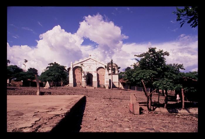 San José Las Flores in ruins.