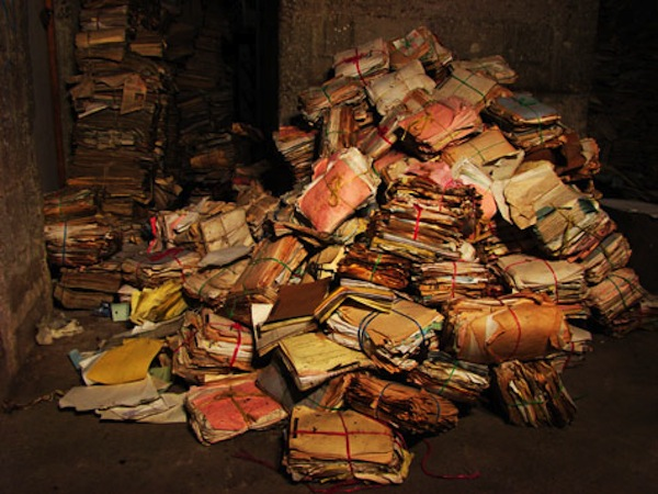 Millions of documents were discovered in a warehouse belonging to the police in 2005. They have been painstakingly cleaned and organized into the Historical Archive of the National Police (AHPN). Photo courtesy of AHPN.