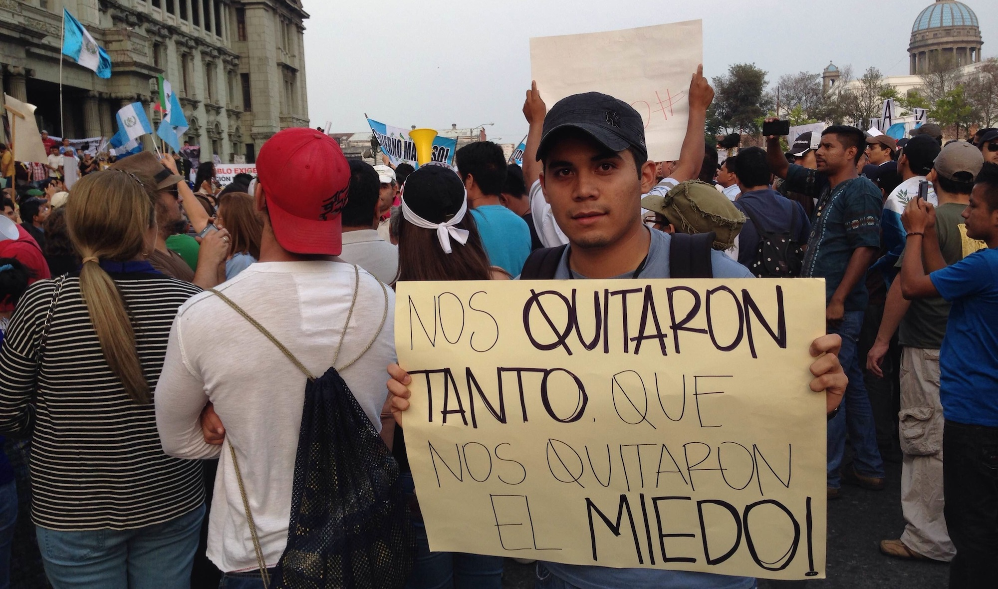 """They took everything from us, even our fear."" Guatemala City. Photo courtesy of Carlos Sebastián."