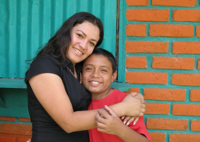 Yesenia and her son, 2007